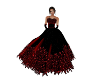 Red Glow Feather Gown