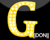 G Yellow Letters Lamp