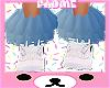 Blue Ruffle sock e