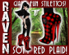 RED PLAID FUN STILETTOS!