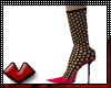 (V) Burst Fishnet Pumps