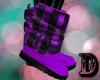 D Purple Winter Boots