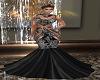 Crystal Med Gown Black