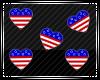Floating USA Hearts
