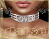 'LOVER' Silver Choker