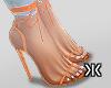 For her heels!