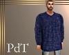 PdT Blue Ribknit Sweater