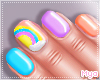 Kids Rainbow Nails