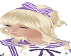 school hair bow purple