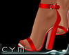 Cym Red Sandals