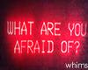 Wild Afraid Neon