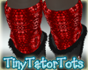 Red Sequin Warmers
