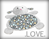 .LOVE. Plushy Lamb Pillo