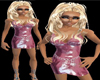 PINK shiny mini dress