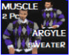 Muscle Argyle Sweater(2)