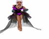 Blk Neon Fairy Dress