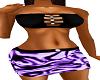 Tube top and skirt Purp