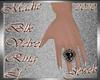 !a Blk Velvet Ring Midd