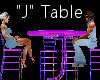 """""""J"""" Club Table for 4"""