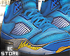"Retro ""5 Fire Blue (F)"