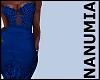 gala dress blue