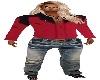 Red Blk Shirt Pants fit