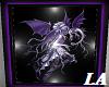 Purple Dragon Fairy Art