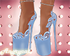 Blue Lace Platforms