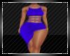 Blue Side Split Dress RL