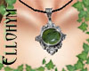 ~E- Medieval Locket Jade