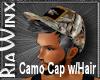 Camo Cap w/Spike Hair