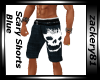 Scary Shorts Blue New