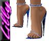 Sparkly blue sandals
