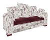 Cranberry/Roses Sm Sofa