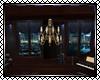 Blue Lounge Chandelier