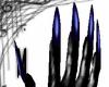 Long blue nails