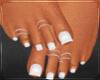 White Frechtip Pedicure