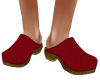 TF* Red Leather Clogs