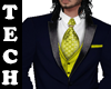 Navy and Yellow 3pc Suit
