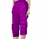 A~ Purple Silk Capris