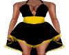 Jill-Black/Yellow Dress