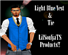 *Light Blue Vest & Tie*