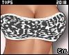 E| Leopard Bandeau Black