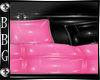 BBG*pnk/blk glam couch
