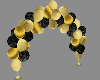 gold n black balloons