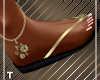 Golden Touch Flip Flops