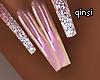 q! rosegold nails