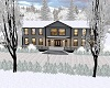 WINTER LAKE HOME SNOWING