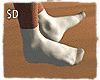 $D - White Socks Long