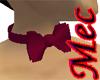 Mec Maroon Bow Tie